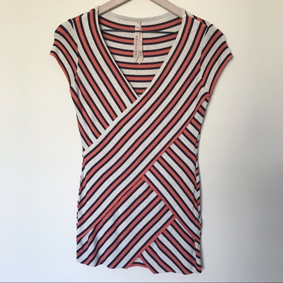 Bailey 44 Tops - Bailey 44 Striped Short Sleeve V-Neck Top